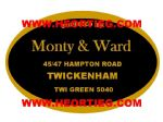Monty and Ward Twickenham Motorcycle Dealer Decals Transfers DDQ55